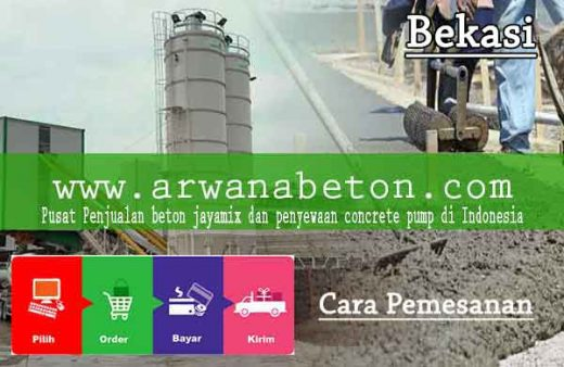 cara pesan beton ready mix di Bekasi