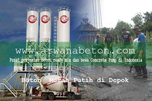 harga beton merah putih depok