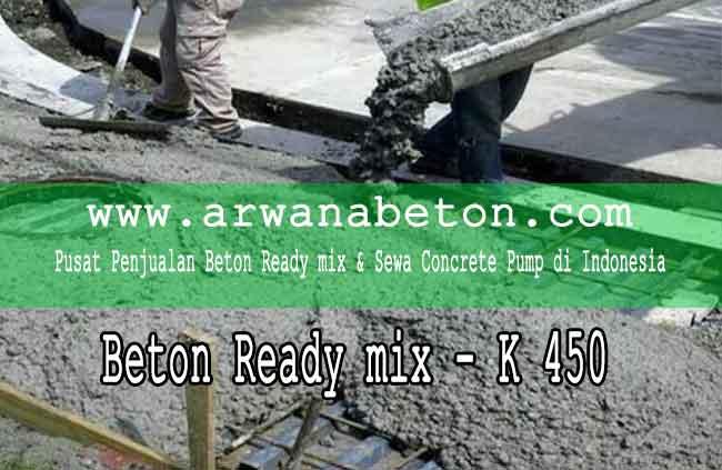 harga beton ready mix K 450