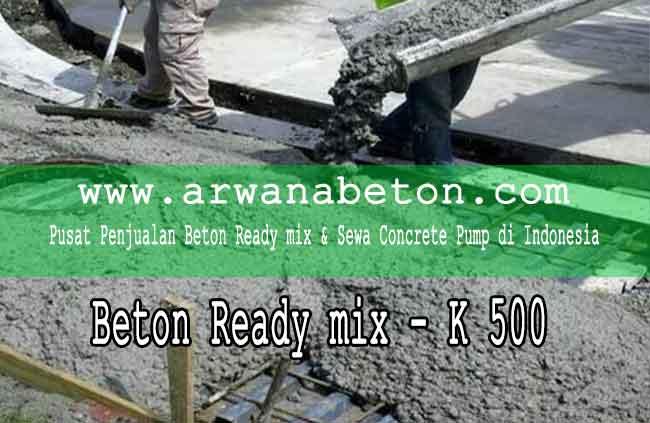 harga beton ready mix K 500