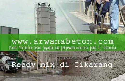 harga beton ready mix cikarang