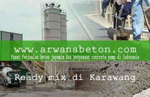 harga beton ready mix karawang